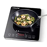 AMZCHEF Single Induction Cooker, Ultra-thin Induction Hob with...