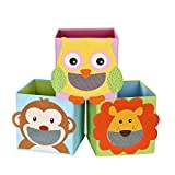 SONGMICS Storage Box Set of 3, Toy Boxes, Toy Organiser, Foldable...