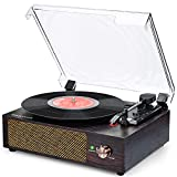 Record Player Bluetooth Turntable Vinyl record player with Built...