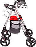 MobiQuip Mobility Walker, 4 Wheeled Rollator with Seat and...
