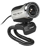 TECKNET 1080P HD Webcam With Built-in Microphone (1080P, Silver)