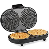 Andrew James Waffle Maker | Round Waffle Maker Machine with...