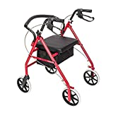 Bonnlo Rollator Walkers with Extra Wide Padded Seat for Seniors...