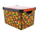 Curver 219820 Stockholm Bright Blocks Plastic Deco Storage Multi...