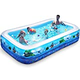 iBaseToy Inflatable Pool for Kids, 118' X 72' X 20' Inflatable...