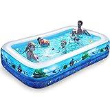iBaseToy Inflatable Pool for Kids, 118' X 72' X 20' Inflatable...