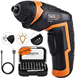 Electric Screwdriver, Cordless Screwdriver 3.6V with 31 Pcs & USB...