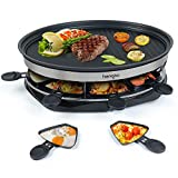 Raclette Grill Smokeless Indoor Raclette Machine for 8 people...