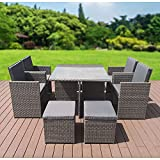 GardenCo Cube Garden Furniture Set - Ready Assembled 8 Seat...