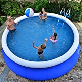 XM&LZ Extra Large Inflatable Pool For Kids Adults,Round PVC...