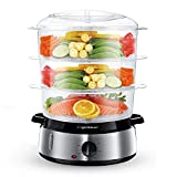 Aigostar Electric Food Steamer, 800W, 3-Tier 9L Capacity,...
