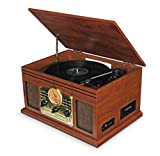 Record Player Vinyl Turntable with Speakers – USB MP3 Playback/...