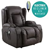 More4Homes CAESAR ELECTRIC AUTO RECLINER MASSAGE HEATED GAMING...