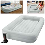 Intex Kidz Travel Cot Bed Inflatable Mattress Air Bed with Pump,...