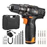 TACKLIFE 12V Cordless Drill Driver, 3/8' Metal Chuck,2 Speeds...