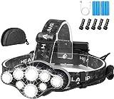 Head Torch,Super Bright Headlight,18000 Lumens 8 LED 8 Modes...