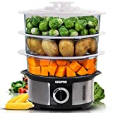 Geepas Food Steamer 12L Capacity | 3 Tiers BPA Free Removable |...