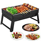 Mbuynow BBQ Grill, Portable Barbecue Grill for 4-6 Persons, Big...