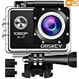 ORSKEY Action Camera 1080P Wifi Underwater Cam Full HD 12MP...