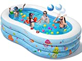 Peradix Paddling Pool Large - 240 x 150 x 60 cm Inflatable...