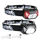 LE Head Torch Rechargeable, 2000L Waterproof LED Headlamp with 6...