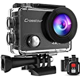Crosstour Action Camera 4K 20MP Wifi Underwater 30M with Remote...