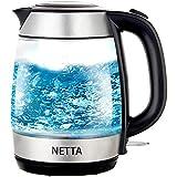 NETTA Electric Glass Kettle - 1.7L Capacity - Fast Boil - Blue...