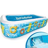 hahaland Thickened Padding Pool Self-Inflatables 300 x 182 x 51CM...