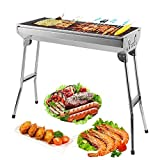 ZOGIN BBQ Grill, Stainless Steel barbecue grill Smoker charcoal...
