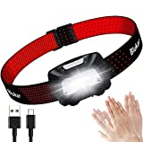 Blukar Head Torch Rechargeable, Super Bright LED Headlamp...