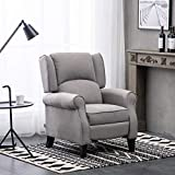 Warmiehomy Wing Back Recliner Chair Fabric Lounge Armchair Sofa...
