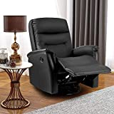 LIFE CARVER 360° Swivel Leather Recliner Armchair Reclining Sofa...