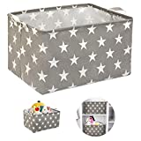 NEWSTYLE Foldable Canvas Fabric Storage Basket,Square Canvas Toy...