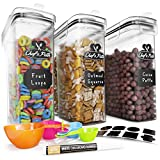 Cereal Container Storage Set - Airtight Food Storage Containers,...