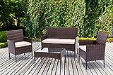 mcc direct 4pcs Rattan Outdoor Garden furniture sofa set with 2x...