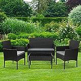 Olsen & Smith 4 Piece Rattan Effect Outdoor Garden Patio...