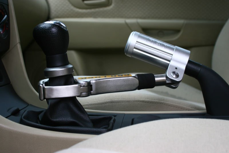 Handbrake gear lock