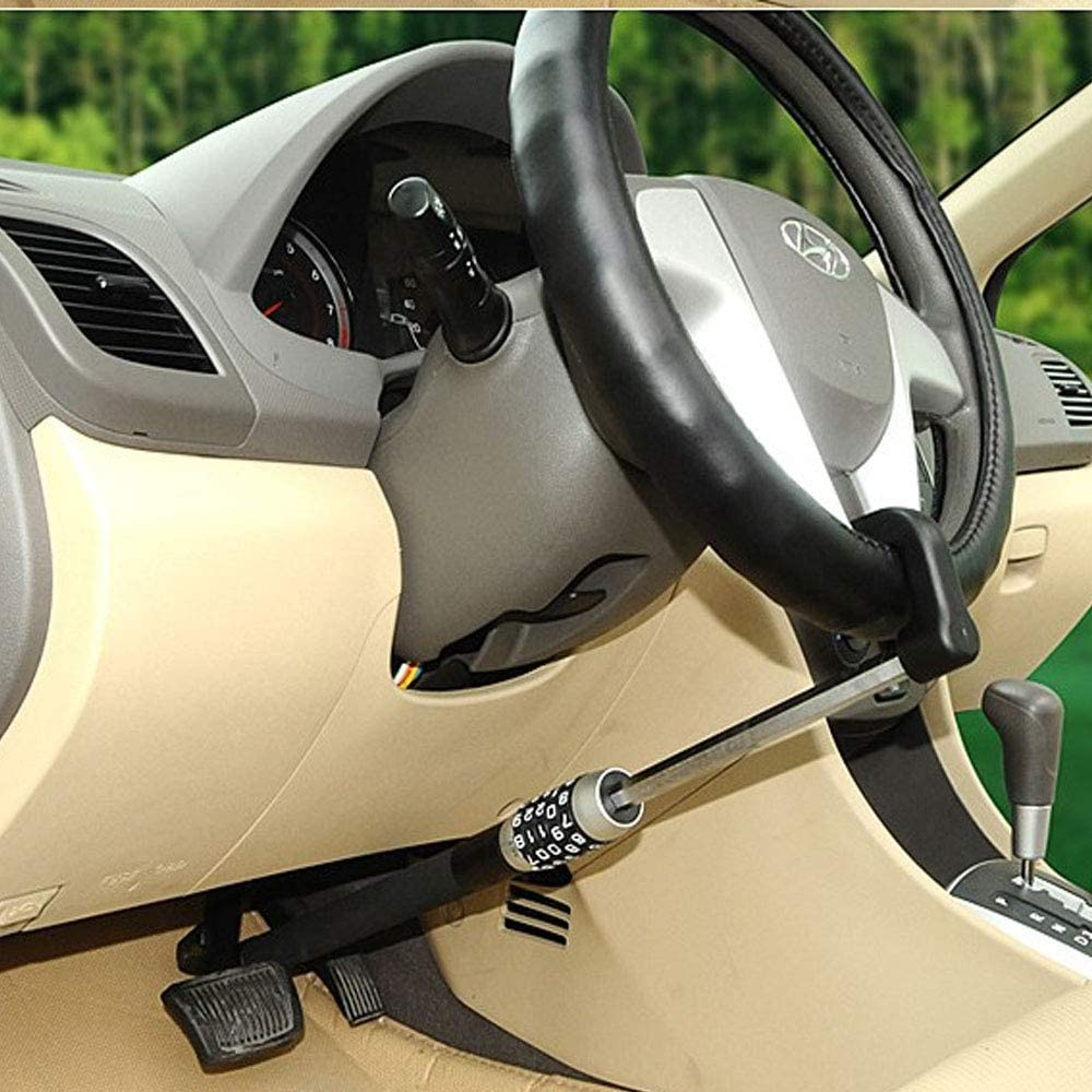 XJ Car brake and steering wheel lock